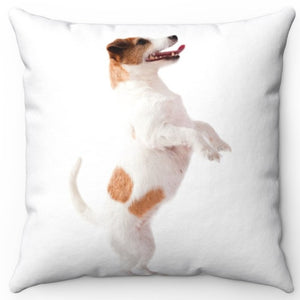 "Dancing Terrier 16"" Or 18"" Square Throw Pillow"