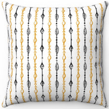 "Load image into Gallery viewer, Boho Beaded Curtain Design 16"" 18"" Or 20"" Square Throw Pillow Cover"