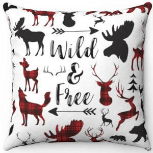 "Wild & Free 18"" x 18"" Throw Pillow Cover"