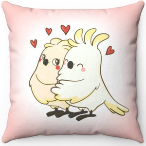 "Love Birds 16"" Or 18"" Square Throw Pillow"