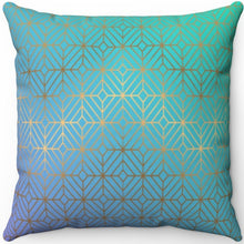 "Load image into Gallery viewer, Art Deco Ombre #Two 16"" 18"" Or 20"" Square Throw Pillow Cover"