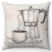 "Load image into Gallery viewer, Coffee Time 18"" Or 20"" Square Throw Pillow Cover"
