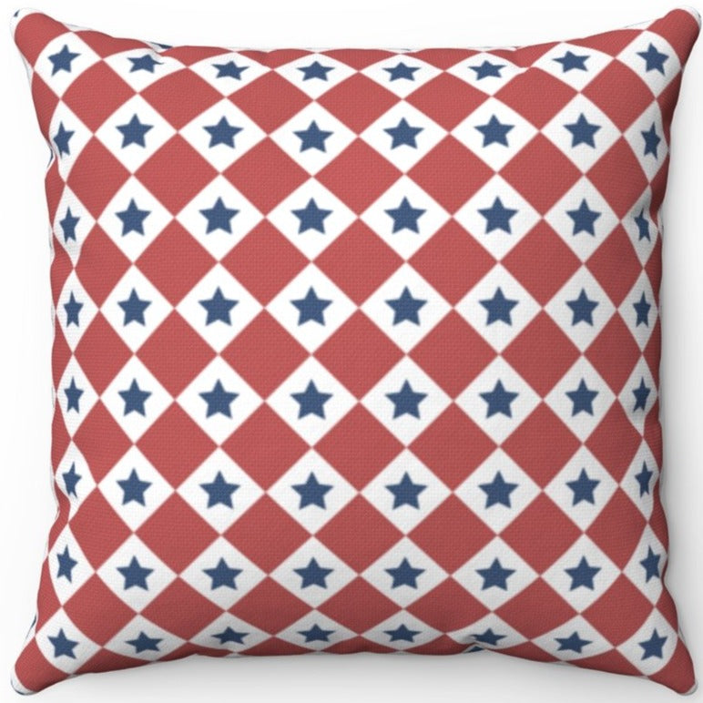 Patriotic Red White & Blue Checkered 16