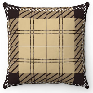 "White Stitch Buffalo Plaid 18"" x 18"" Or 20"" x 20"" Throw Pillow Cover"