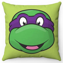 "Load image into Gallery viewer, Donatello Teenage Mutant Ninja Turtle 16"" x 16"" Square Throw Pillow Cover"