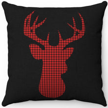 "Load image into Gallery viewer, Deer Head Silhouette #Fourteen 16"" 18"" Or 20"" Square Throw Pillow Cover"