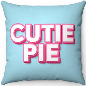 "Cutie Pie 18"" x 18"" Square Throw Pillow"