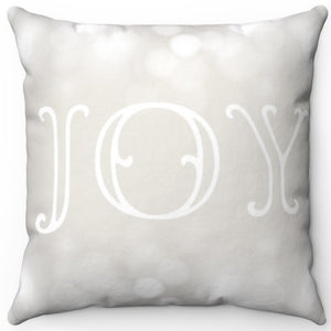 "Joy Of Christmas 16"" Or 18"" Square Throw Pillow Cover"
