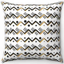 "Load image into Gallery viewer, Boho Style Mountain Pattern 16"" 18"" Or 20"" Square Throw Pillow Cover"