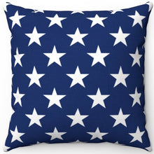 "Load image into Gallery viewer, American Flag Stars 16"" 18"" Or 20"" Square Throw Pillow Cover"