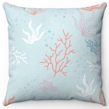 "Load image into Gallery viewer, Pastel Coral 18"" Or 20"" Square Throw Pillow Cover"