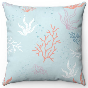 "Pastel Coral 18"" Or 20"" Square Throw Pillow Cover"
