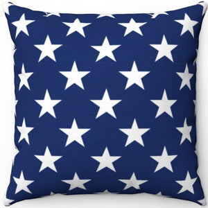 "American Flag Stars 16"" 18"" Or 20"" Square Throw Pillow Cover"