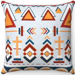 "Colorful Boho Pattern #Eight 16"" 18"" Or 20"" Square Throw Pillow Covers"