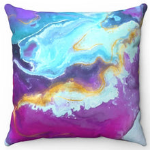 "Load image into Gallery viewer, Opal Printed Design 18"" Or 20"" Square Throw Pillow Cover"