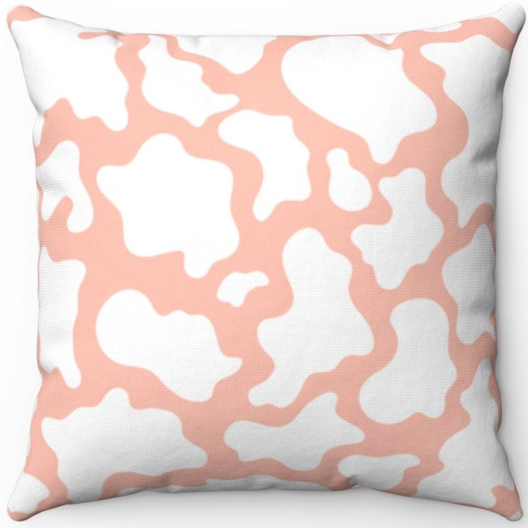 Pink And White Cow Print 16