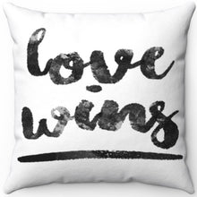 "Load image into Gallery viewer, Love Wins 16"" Or 18"" Square Throw Pillow"