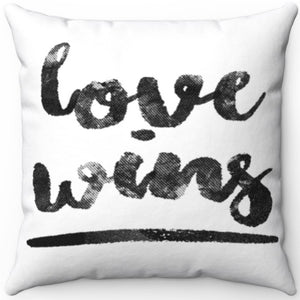 "Love Wins 16"" Or 18"" Square Throw Pillow"