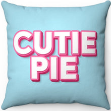 "Load image into Gallery viewer, Cutie Pie 18"" x 18"" Square Throw Pillow"