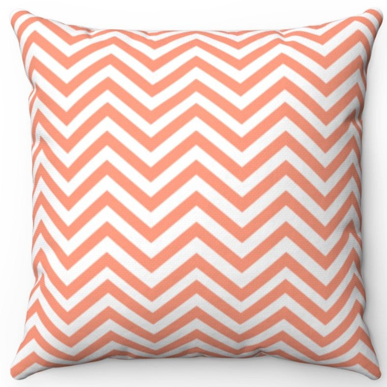 Chevron Stripe In Atomic Tangerine 16
