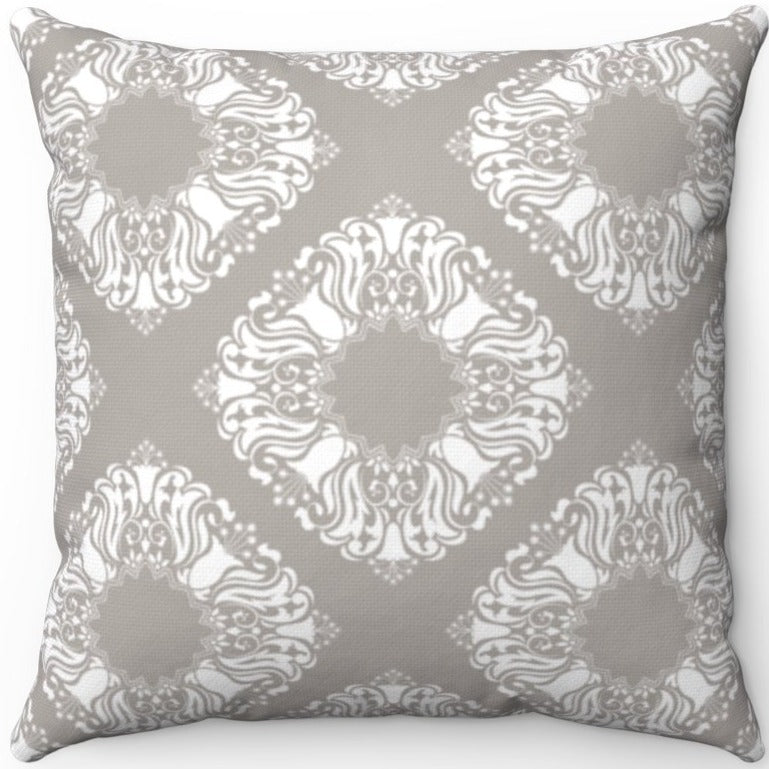 Delicate Grey & White Filigree Pattern #Two 16
