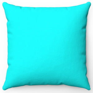 "Blue Cyan 16"" 18"" Or 20"" Square Throw Pillow Cover"