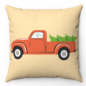 "Harvesting The Christmas Tree 18"" x 18"" Throw Pillow"