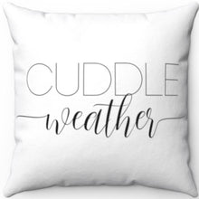 "Load image into Gallery viewer, Cuddle Weather Black & White 18"" x 18"" Throw Pillow Cover"