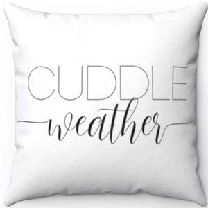 "Cuddle Weather Black & White 18"" x 18"" Throw Pillow Cover"