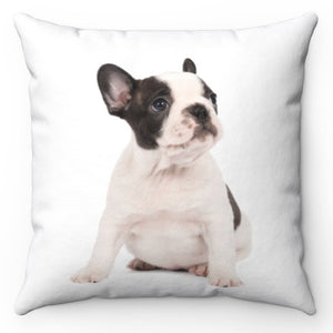 "Joe The Bulldog Pup 18"" x 18"" Throw Pillow Cover"