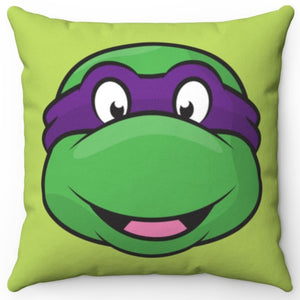 "Donatello Teenage Mutant Ninja Turtle 16"" x 16"" Square Throw Pillow Cover"