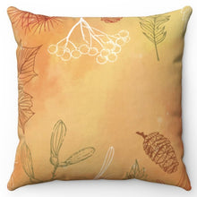 "Load image into Gallery viewer, Hand Drawn Leaves 20"" x 20"" Throw Pillow Cover"