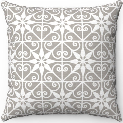 Delicate Grey & White Filigree Pattern #Three 16