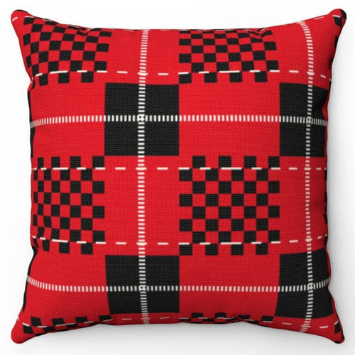 Red Black & White Buffalo Plaid 18