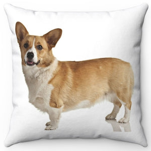 "Milo The Corgi 16"" Or 18"" Square Throw Pillow"