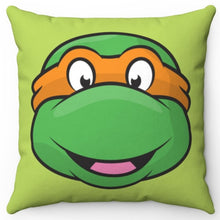"Load image into Gallery viewer, Michelangelo Teenage Mutant Ninja Turtle 16"" x 16"" Square Throw Pillow Cover"