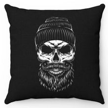 "Load image into Gallery viewer, Vintage Monochrome Lumberjack 18"" x 18"" Throw Pillow Cover"