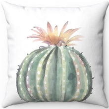 "Load image into Gallery viewer, Prickly Cactus #Three 16"" 18"" Or 20"" Square Throw Pillow Cover"