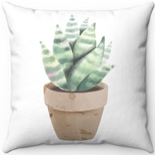 "Load image into Gallery viewer, Petite Potted Succulent Pattern #One 16"" 18"" Or 20"" Square Throw Pillow Cover"