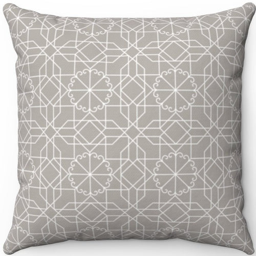 Delicate Grey & White Geometric Pattern #Twelve 18