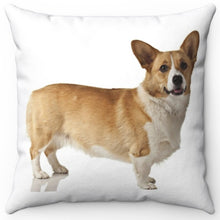 "Load image into Gallery viewer, Milo The Corgi 16"" Or 18"" Square Throw Pillow"