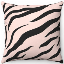 "Load image into Gallery viewer, Zebra Pastel Animal Print 16"" 18"" Or 20"" Square Throw Pillow Cover"