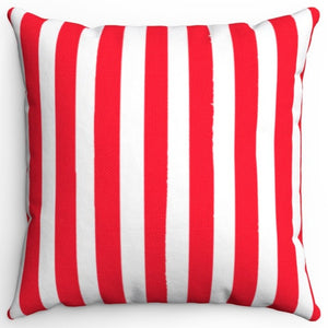 "Light Red Texture Stripes 16"" Or 18"" Square Throw Pillow Cover"