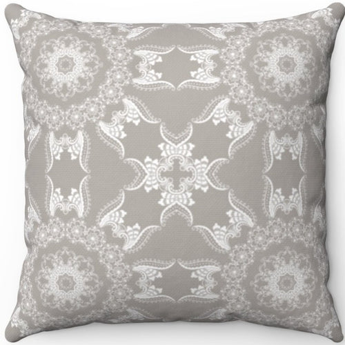 Delicate Grey & White Filigree Pattern #Ten 18