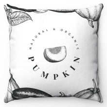 "Load image into Gallery viewer, Natural & Organic Pumpkin 18"" x 18"" Throw Pillow"