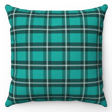"Load image into Gallery viewer, Green Kilt Patterned 18"" x 18"" Throw Pillow Cover"