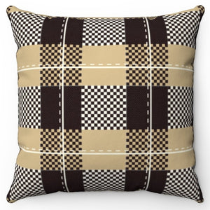 "Buffalo Plaid Print 18"" Or 20"" Square Throw Pillow Cover"