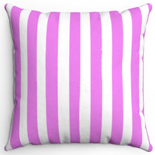 "Load image into Gallery viewer, Violet Texture Stripes 16"" Or 18"" Square Throw Pillow Cover"