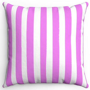 "Violet Texture Stripes 16"" Or 18"" Square Throw Pillow Cover"