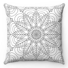 "Load image into Gallery viewer, Seamless Black & White 18"" x 18"" Tribal Throw Pillow"